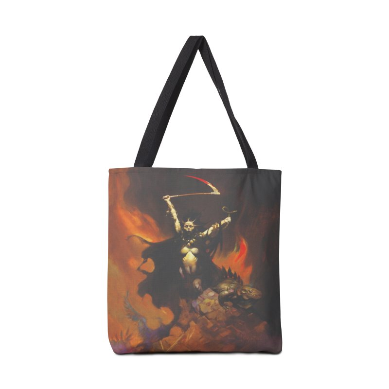WOMEN WITH A SCYTHE Accessories Tote Bag Bag by Heavy Metal Magazine
