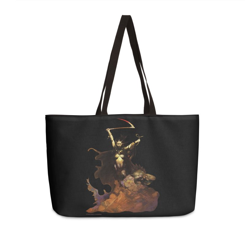 WOMEN WITH A SCYTHE Accessories Weekender Bag Bag by Heavy Metal Magazine