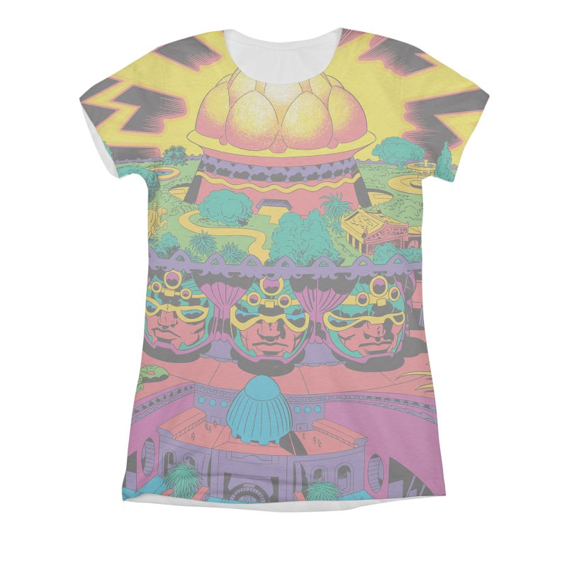 Chambers of Brahma - Jack Kirby and Barry Geller Women's All-Over Print Triblend T-Shirt by Heavy Metal Magazine