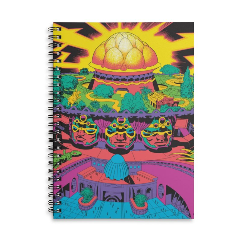 Chambers of Brahma - Jack Kirby and Barry Geller Accessories Lined Spiral Notebook by Heavy Metal Magazine