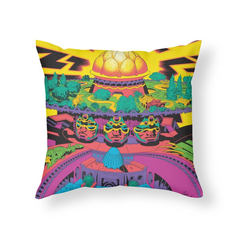 Chambers of Brahma - Jack Kirby and Barry Geller Home Throw Pillow by Heavy Metal Magazine