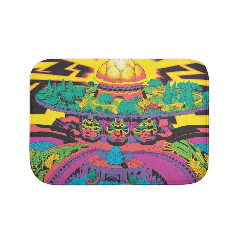 Chambers of Brahma - Jack Kirby and Barry Geller Home Bath Mat by Heavy Metal Magazine