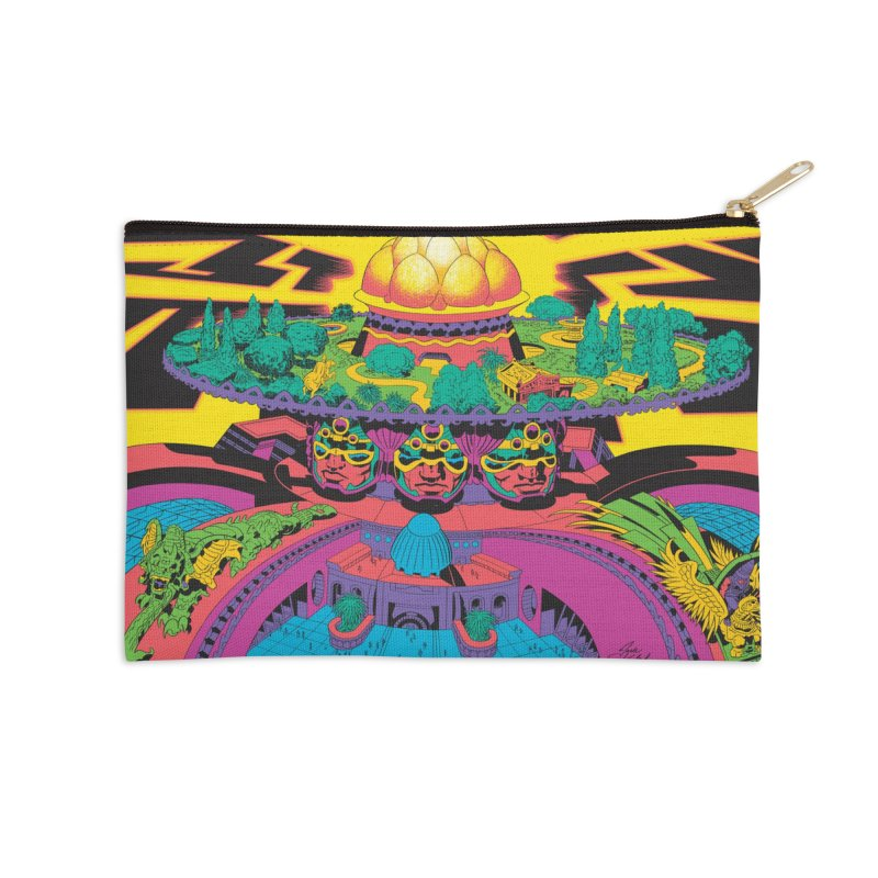 Chambers of Brahma - Jack Kirby and Barry Geller Accessories Zip Pouch by Heavy Metal Magazine