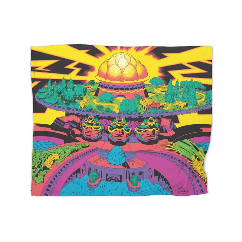 Chambers of Brahma - Jack Kirby and Barry Geller Home Blanket by Heavy Metal Magazine