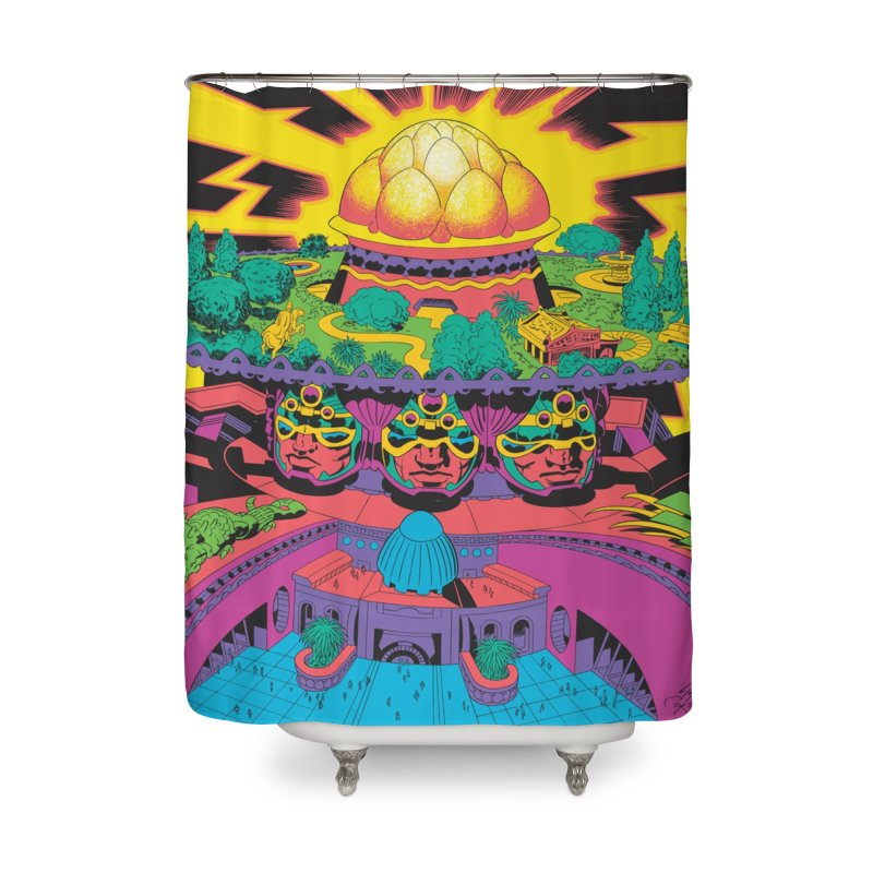 Chambers of Brahma - Jack Kirby and Barry Geller Home Shower Curtain by Heavy Metal Magazine