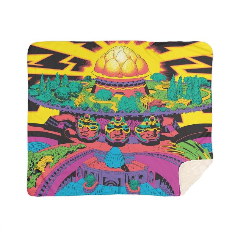 Chambers of Brahma - Jack Kirby and Barry Geller Home Sherpa Blanket Blanket by Heavy Metal Magazine