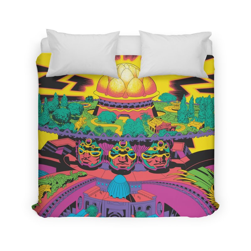 Chambers of Brahma - Jack Kirby and Barry Geller Home Duvet by Heavy Metal Magazine