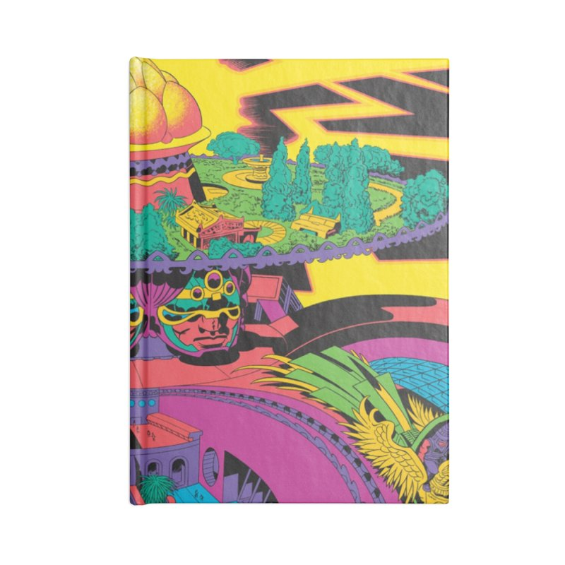 Chambers of Brahma - Jack Kirby and Barry Geller Accessories Lined Journal Notebook by Heavy Metal Magazine