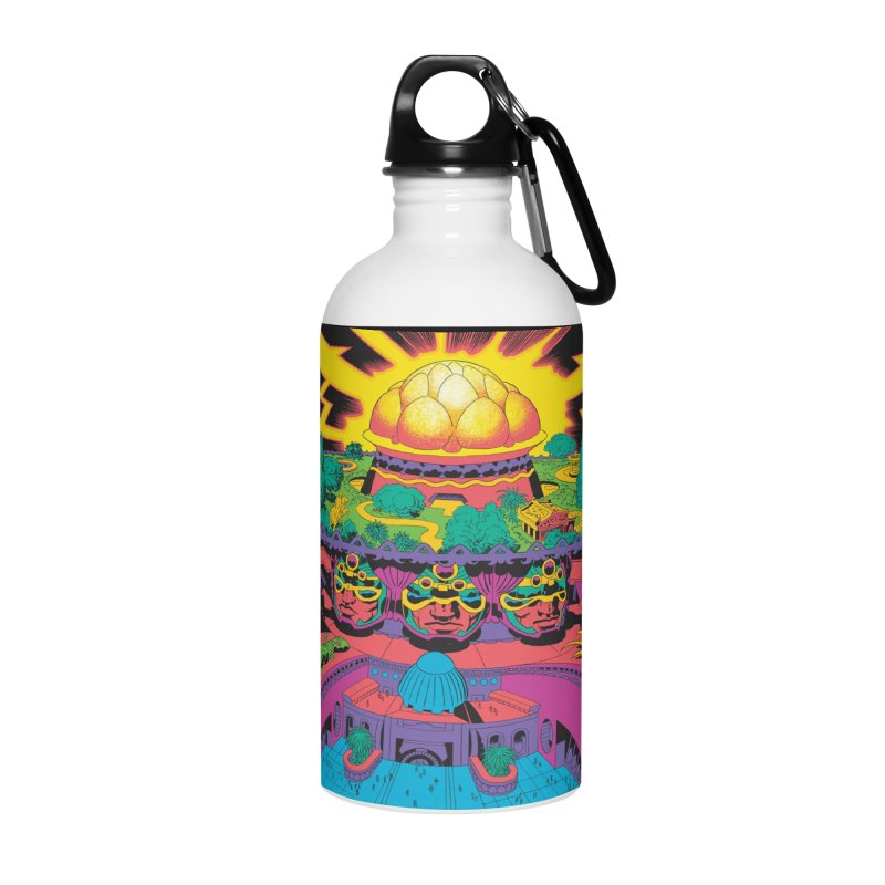 Chambers of Brahma - Jack Kirby and Barry Geller Accessories Water Bottle by Heavy Metal Magazine