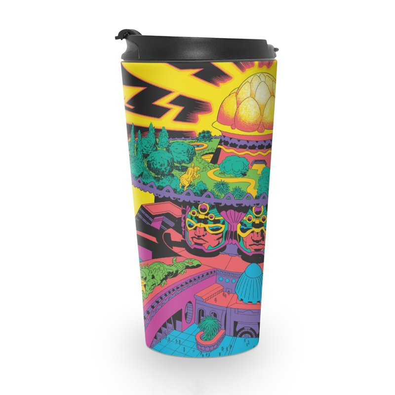 Chambers of Brahma - Jack Kirby and Barry Geller Accessories Travel Mug by Heavy Metal Magazine