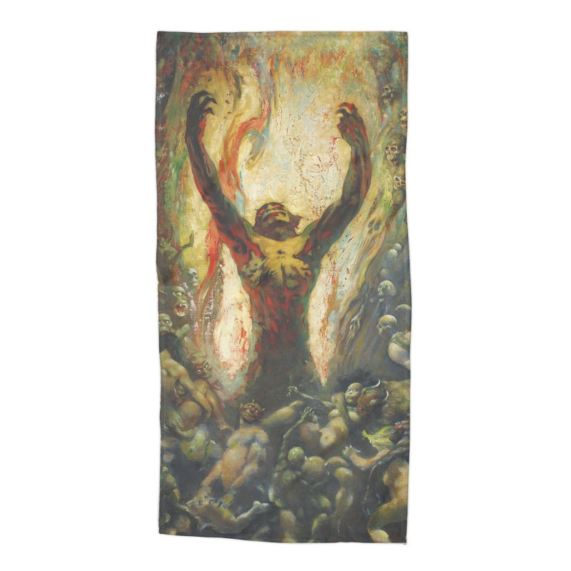 REIGN OF WIZARDRY Accessories Beach Towel by Heavy Metal Magazine