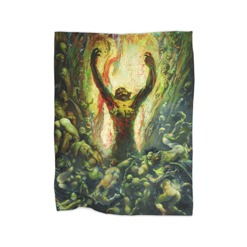 REIGN OF WIZARDRY Home Fleece Blanket Blanket by Heavy Metal Magazine