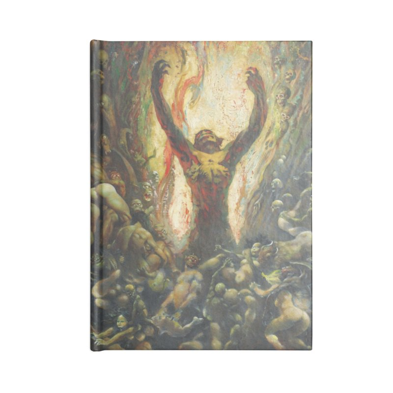 REIGN OF WIZARDRY Accessories Lined Journal Notebook by Heavy Metal Magazine