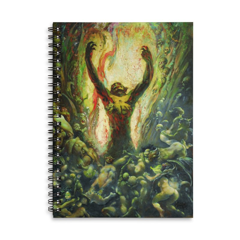 REIGN OF WIZARDRY Accessories Lined Spiral Notebook by Heavy Metal Magazine
