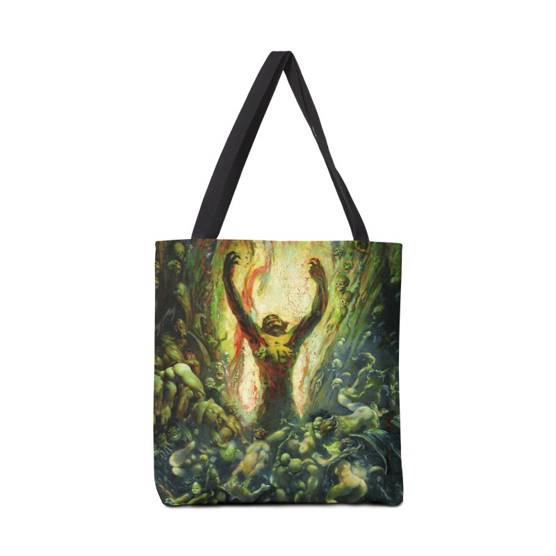 REIGN OF WIZARDRY Accessories Tote Bag Bag by Heavy Metal Magazine