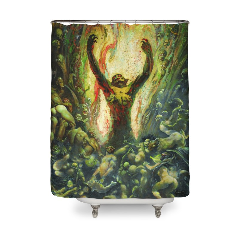 REIGN OF WIZARDRY Home Shower Curtain by Heavy Metal Magazine