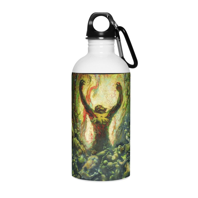 REIGN OF WIZARDRY Accessories Water Bottle by Heavy Metal Magazine