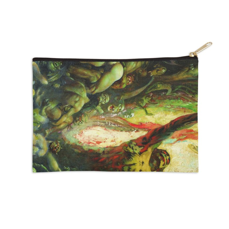 REIGN OF WIZARDRY Accessories Zip Pouch by Heavy Metal Magazine
