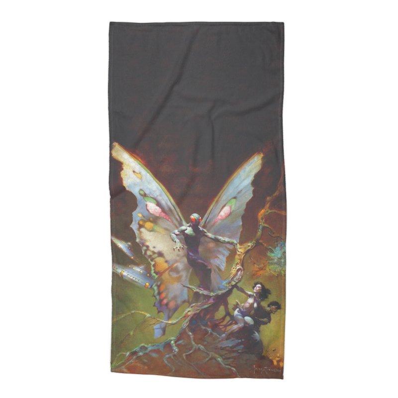 MOTHMAN Accessories Beach Towel by Heavy Metal Magazine