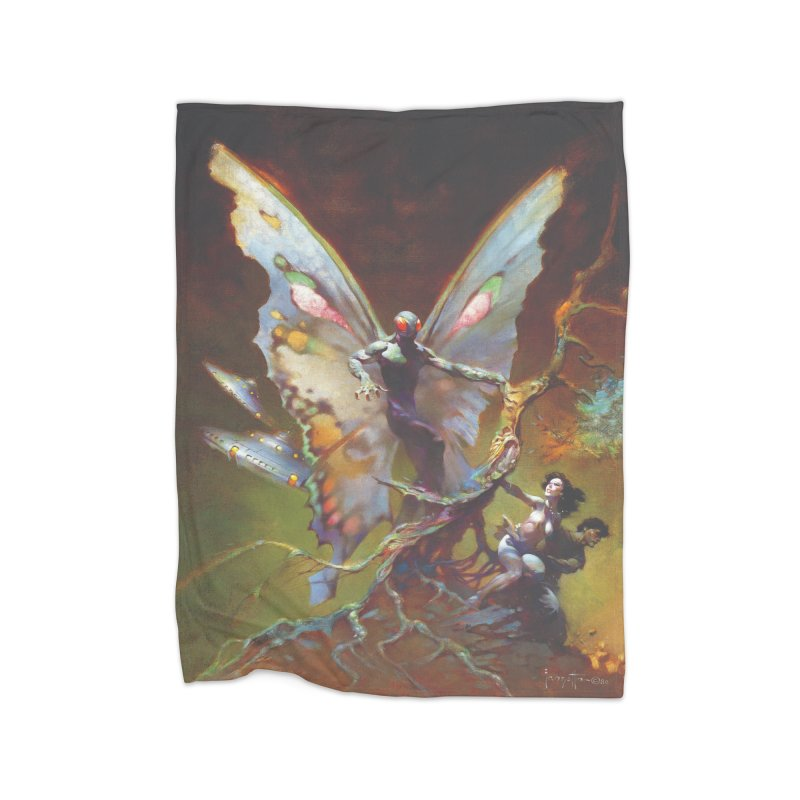 MOTHMAN Home Fleece Blanket Blanket by Heavy Metal Magazine