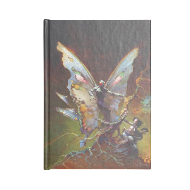 MOTHMAN Accessories Lined Journal Notebook by Heavy Metal Magazine