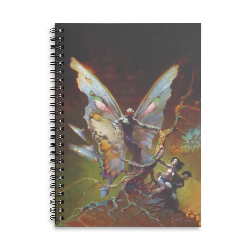 MOTHMAN Accessories Lined Spiral Notebook by Heavy Metal Magazine