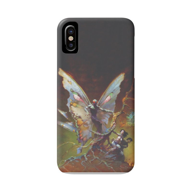 MOTHMAN in iPhone X / XS Phone Case Slim by Heavy Metal Magazine