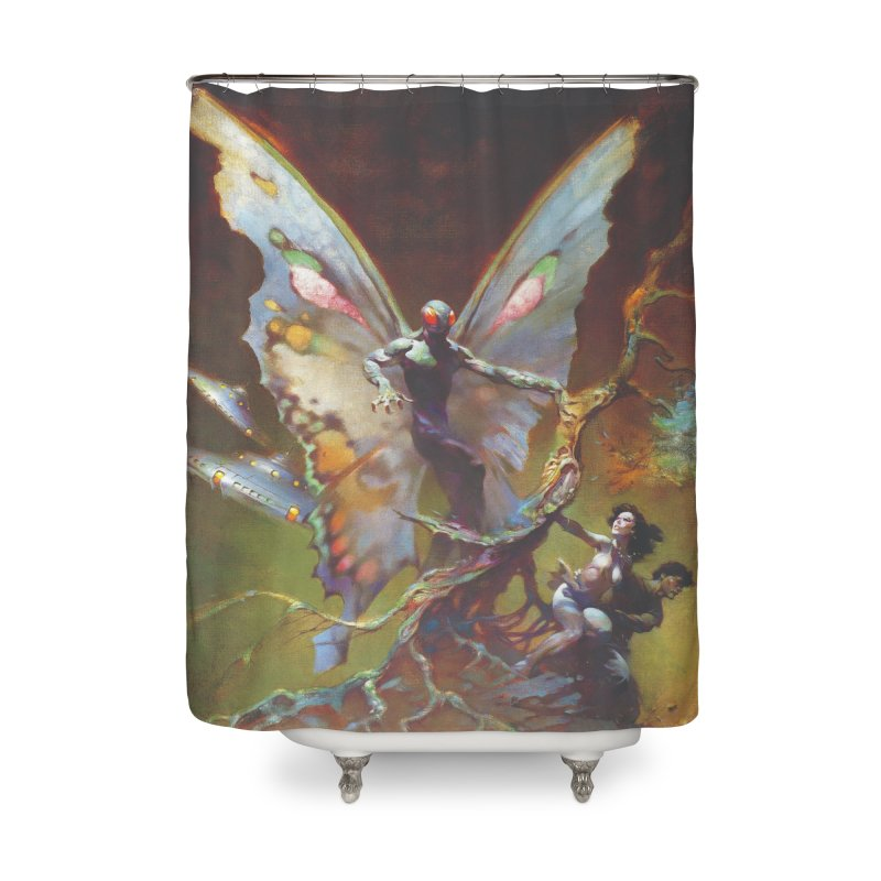 MOTHMAN Home Shower Curtain by Heavy Metal Magazine