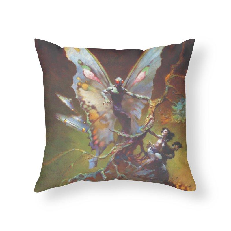 MOTHMAN Home Throw Pillow by Heavy Metal Magazine
