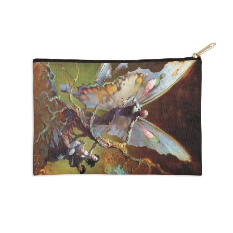MOTHMAN Accessories Zip Pouch by Heavy Metal Magazine