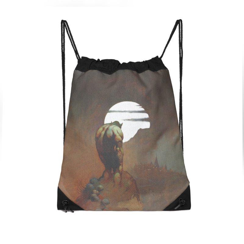NIGHTSTALKER Accessories Drawstring Bag Bag by Heavy Metal Magazine