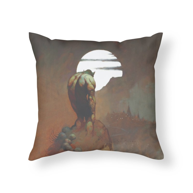 NIGHTSTALKER Home Throw Pillow by Heavy Metal Magazine
