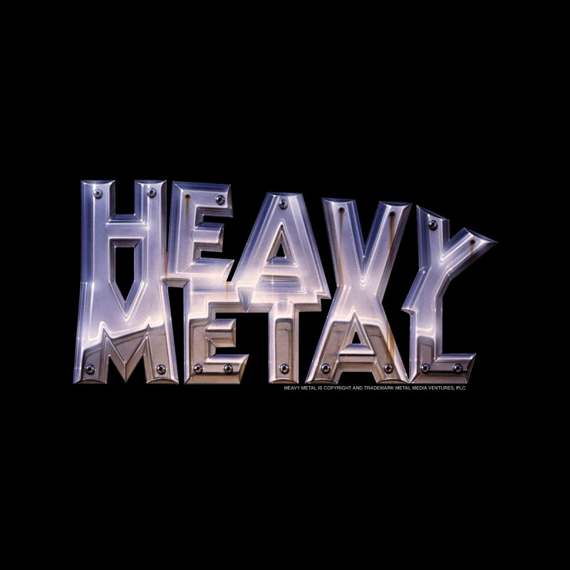 Heavy Metal Chrome Men's V-Neck by Heavy Metal Magazine