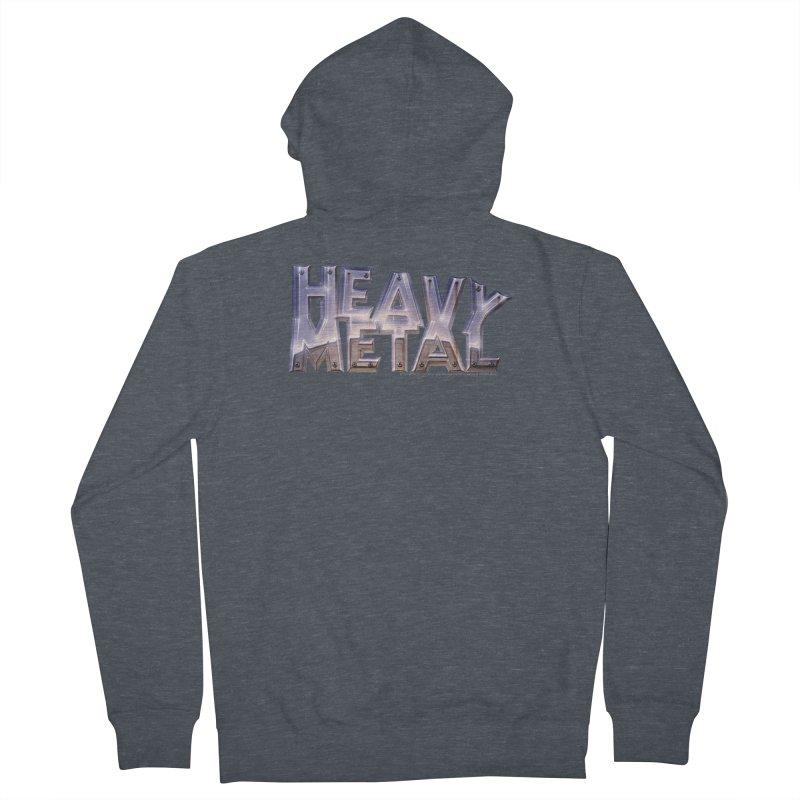 Heavy Metal Chrome Women's Zip-Up Hoody by Heavy Metal Magazine