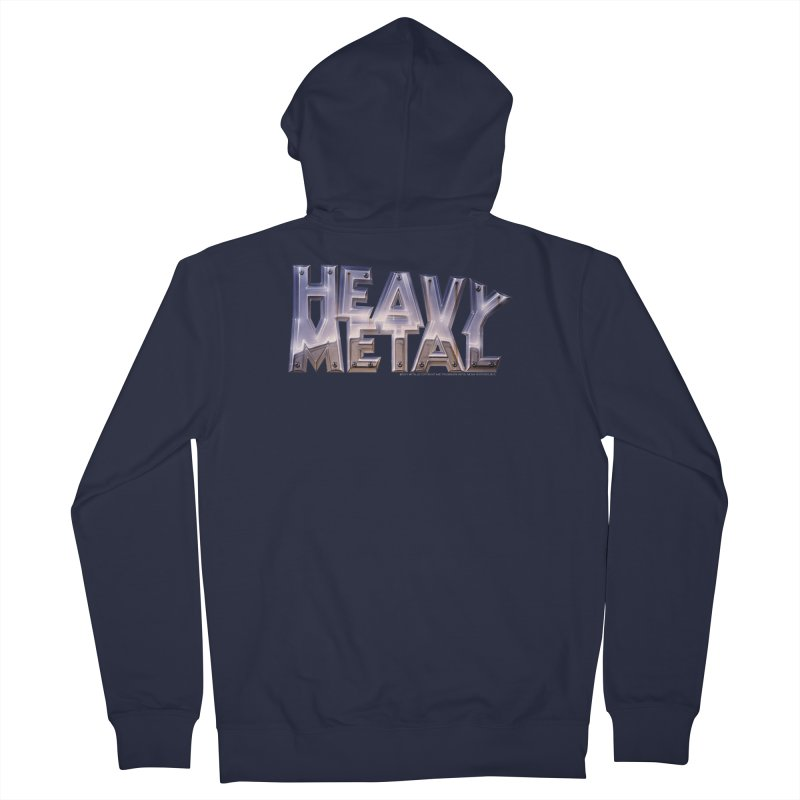 Heavy Metal Chrome Women's Zip-Up Hoody by Heavy Metal Magazine