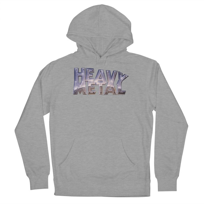 Heavy Metal Chrome Women's French Terry Pullover Hoody by Heavy Metal Magazine