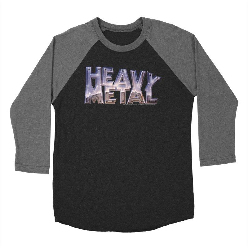 Heavy Metal Chrome Men's Baseball Triblend T-Shirt by Heavy Metal Magazine