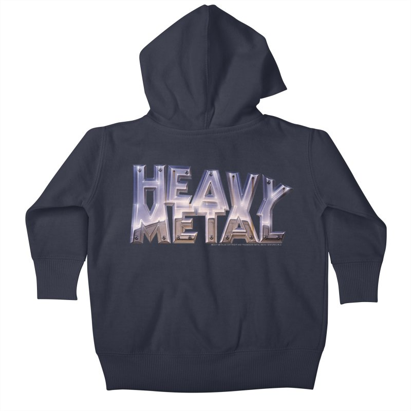 Heavy Metal Chrome Kids Baby Zip-Up Hoody by Heavy Metal Magazine
