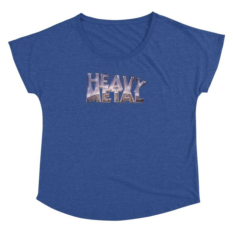 Heavy Metal Chrome Women's Dolman Scoop Neck by Heavy Metal Magazine