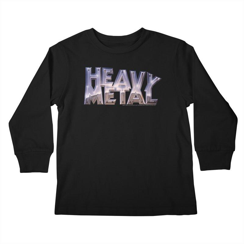 Heavy Metal Chrome Kids Longsleeve T-Shirt by Heavy Metal Magazine