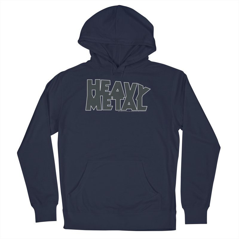 Heavy Metal Black Logo Men's Pullover Hoody by Heavy Metal Magazine