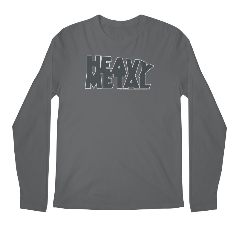 Heavy Metal Black Logo Men's Longsleeve T-Shirt by Heavy Metal Magazine