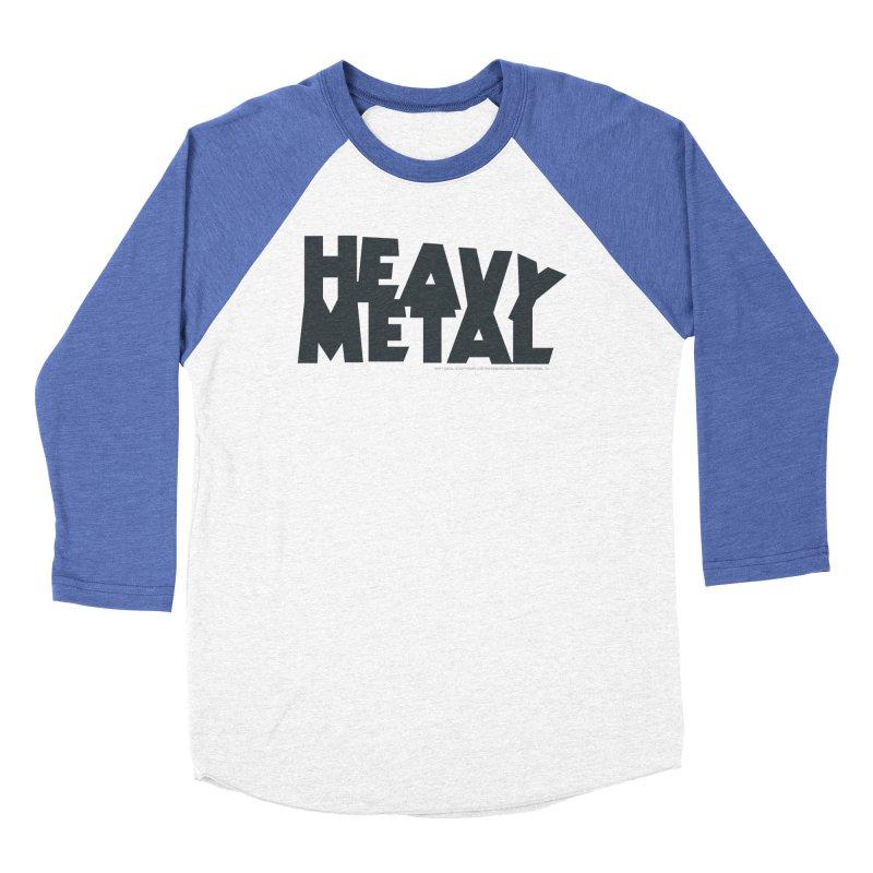Heavy Metal Black Logo Men's Longsleeve T-Shirt by Heavy Metal Magazine