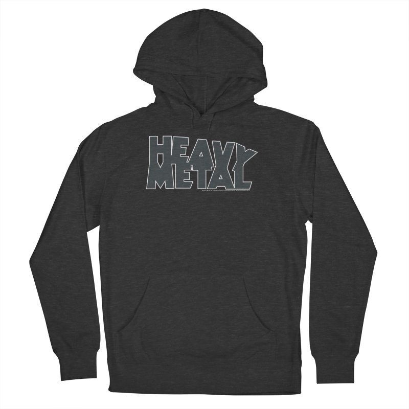 Heavy Metal Black Logo Women's French Terry Pullover Hoody by Heavy Metal Magazine