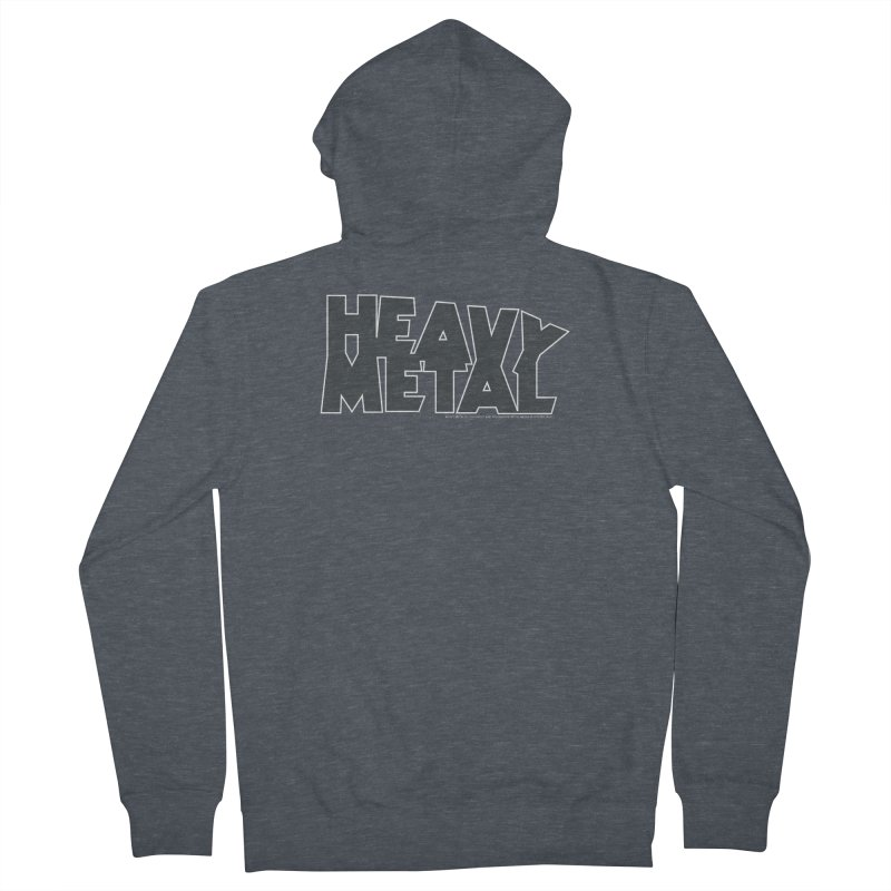 Heavy Metal Black Logo Women's French Terry Zip-Up Hoody by Heavy Metal Magazine