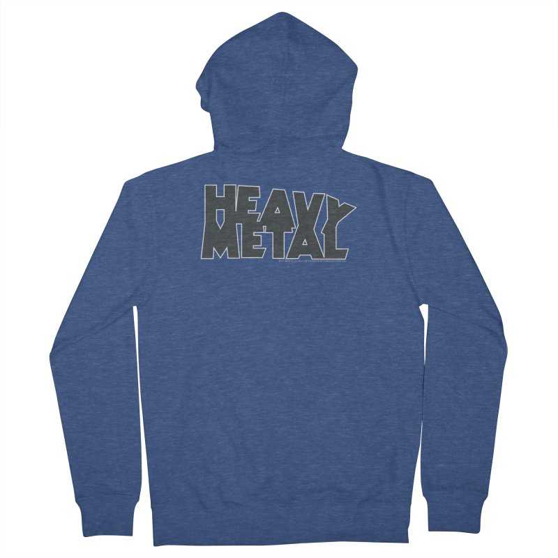 Heavy Metal Black Logo Men's French Terry Zip-Up Hoody by Heavy Metal Magazine