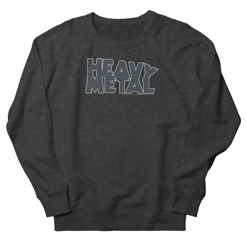 Heavy Metal Black Logo Men's French Terry Sweatshirt by Heavy Metal Magazine