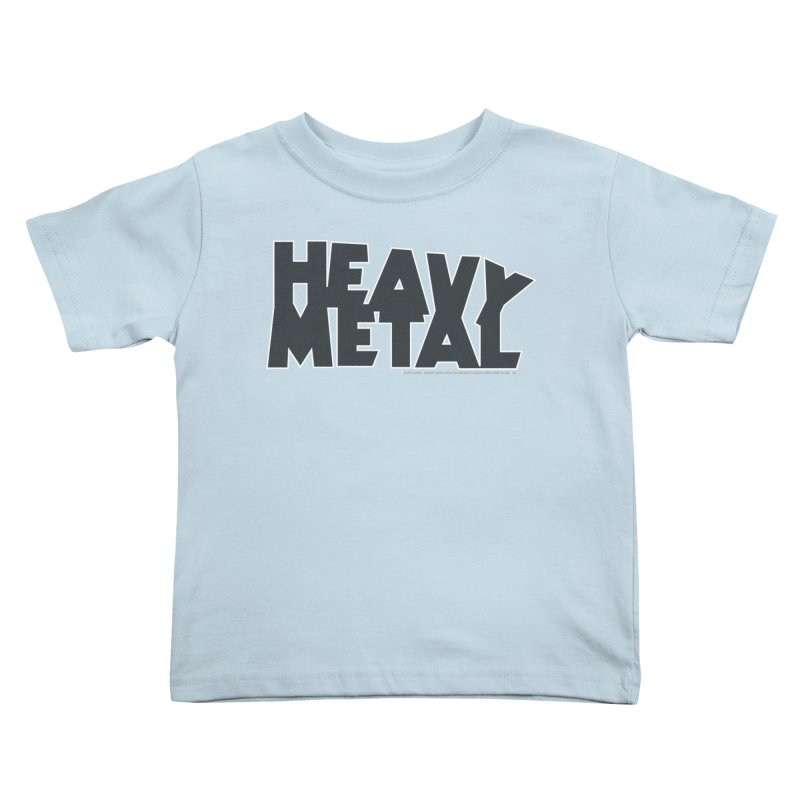 Heavy Metal Black Logo Kids Toddler T-Shirt by Heavy Metal Magazine