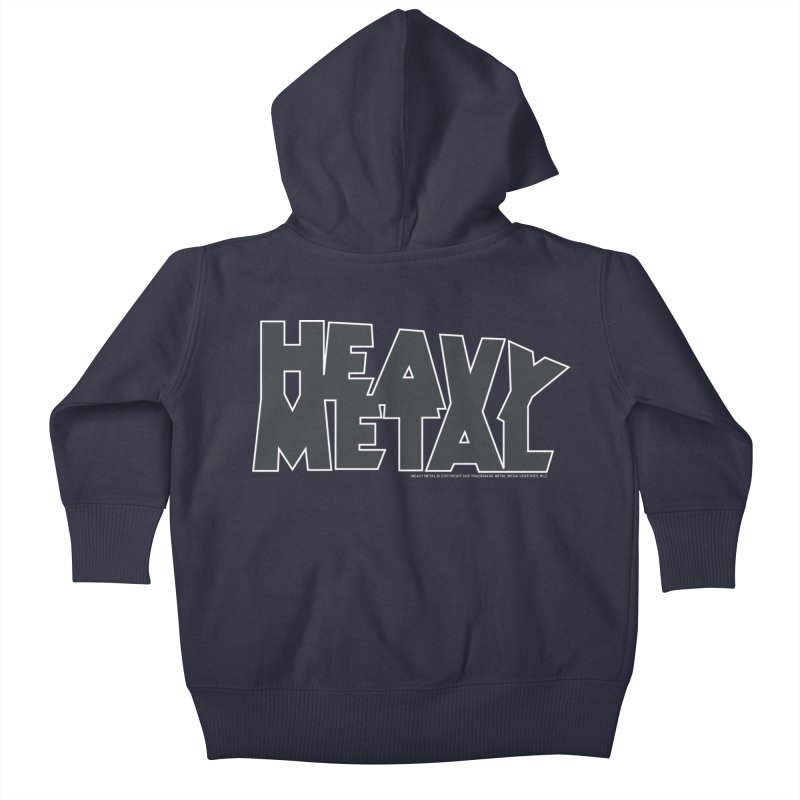 Heavy Metal Black Logo Kids Baby Zip-Up Hoody by Heavy Metal Magazine