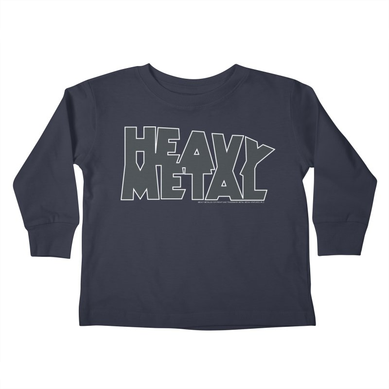 Heavy Metal Black Logo Kids Toddler Longsleeve T-Shirt by Heavy Metal Magazine
